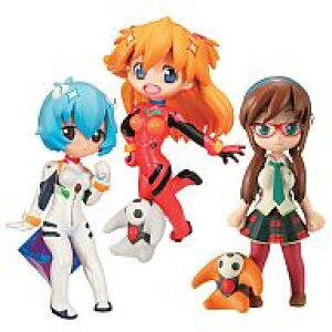 [Использовано] Торговая фигура Evangelion Petit R-style 1.5 Asuka Ray Mari набор из 3 предметов