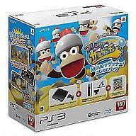 【中古】PS3ハードプレイステーション3本体「フリフリ!サルゲッチュ」Moveでゲッチュ!はじめてパック(160GB/チャコールブラック)