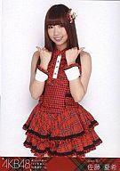【中古】生写真(AKB48・SKE48)/アイドル/AKB48 佐藤夏希/膝上・赤チェック/よっしゃぁ〜行く...