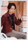 中古生写真ジャニズアイドル嵐 嵐櫻井翔座り・左手ピス・上着赤公式生写真タイム