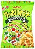 【新品】スナック菓子 お菓子◆ 【BOX】サッポロポテト ツブツブベジタブル 24g (24個セット)【画】