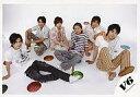 【中古】生写真(男性)/アイドル/V6 V6/集合(6人)/横型・座り・センター森田・ボーダー柄シャ...
