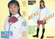 【中古】コレクションカード(女性)/BOYS BE … ALIVE CASTトレーディングカード 笠井玲奈/BOYS BE … ALIVE CASTトレーディングカード画像