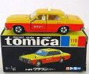 【中古】ミニカー 1/65 トヨタ クラウン タクシー(イエロー×オレンジ/黒箱) 「トミカ No.110」 復刻版