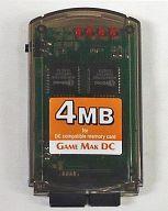 【中古】ドリームキャストハード GAME MAK DC 4Mb 800ブロックDCメモリー (クリアグレー)