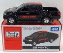 【中古】ミニカー 1/66 三菱 トライトン(ブラック×レッド/TOMICASHOPロゴ) 「トミカ」 トミカショップオリジナル