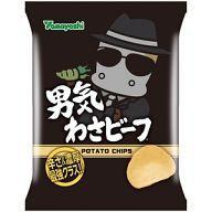 【新品】スナック菓子 【BOX】ポテトチップス 男気わさビーフ (10個セット) 【05P23Sep15】【...