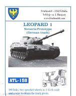 [新]模型車1/35豹1原型(西德說明書)[ATL-158]