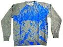 【中古】衣類その他(女性アイドル) 藤咲彩音 トレーナー(叫び柄) グレー×ブルー Lサイズ 「LIKIOSAKABE×でんぱ組.inc×愛☆まどんな」