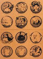 【中古】食器 コルクコースターセット(12個セット) 週刊少年ジャンプ&最強ジャンプ 2016春 3万名プレゼント Wチャンス当選品