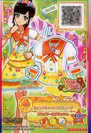 【中古】アイカツDCD/CP/トップス/ポップ/Shiny Smile/5弾S4決定戦 5-13-3-★ [CP] : オレンジキャットパフスリーブ