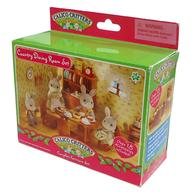 Pre Toys Country Dining Room Set Dainigu Sylvanian Families Calico Critters Time
