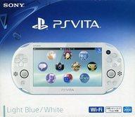 中古 PSVITAハードPlayStationVita本体Wi-Fiモデルライトブルー・ホワイト PCH-2000 (状態:本