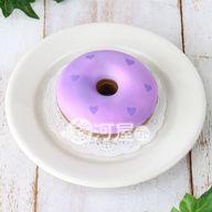 【新品】スクイーズ(食品系/おもちゃ)色が変わるドーナツブルー→ラズベリーマザーガーデン