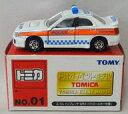 ミニカー 1/59 スバル インプレッサ WRX パトロールカー仕様 #1031(ホワイト×オレンジ) 「トミカ イベントモデル No.01」