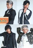 產品詳細資料,日本Yahoo代標|日本代購|日本批發-ibuy99|興趣、愛好|收藏|【中古】生写真(男性)/俳優 集合(4人)/上半身・衣装黒・白・4分割・背景白・キャラクターショッ…