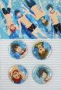 【中古】バッジ・ピンズ(キャラクター) 缶バッジ4個セット 「DVD&Blu-ray ハイ☆スピード! -Free! Starting Days-」 アニメイト購入特典