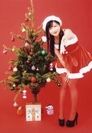 【中古】生写真(AKB48・SKE48)/アイドル/NMB48 谷川愛梨/全身・衣装赤白・サンタ衣装・左手パー・前かがみ・クリスマスツリー・背景赤/「NMB48 2018-2019CALENDAR for BOYS」封入特典生写真