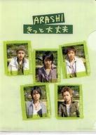 【中古】クリアファイル(男性アイドル) 嵐 B7プチファイル(クリアファイル) 「CD きっと大丈夫 通常盤」 初回封入特典