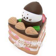 【新品】スクイーズ(食品系/おもちゃ) しろたん 柔らかチョコケーキ マザーガーデン