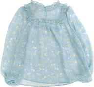 【中古】衣類 シフォンブラウス サックスブルー 3Lサイズ 「すみっコぐらし×franche lippee(フランシュリッペ) in 池袋マルイ」