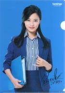 【中古】クリアファイル 小島瑠璃子(背景:ブルー) A4クリアファイル brother ノベルティグッズ