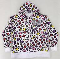中古 衣類ももいろクローバーZ公式パーカー2020ホワイト×メンバーカラーLサイズ「ニッポン放送ももいろクローバーZももクロく