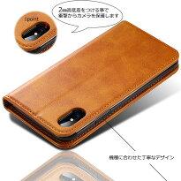 iPhoneXケース手帳型HANDSOMELEATHERiPhoneXケース耐衝撃カバーアイフォンXスマホケース3