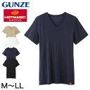 グンゼ ホットマジック 柔らか温か メンズ VネックTシャツ M〜LL (GUNZE HOTMAGIC インナーシャツ アンダーシャツ アンダーウェア アンダーウェアー 肌着 トップス インナー 大きめ大きいサイズあり)