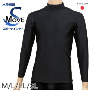 スポーツインナー uvカット ハイネック 長袖 M〜3L (スポーツ インナー シャツ 黒 メンズ)