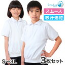 【3枚セット】SchooLog 吸汗速乾 半袖衿付き体操服 S〜3L (トレーニングシャツ 体操着 運動服 運動着 スクールウェア 洗い替え) (送料無料)