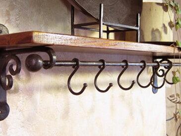 ボールハンガー10×650 アイアンバー 鉄棒 ハンガー バー 天井 吊り下げ パーツ カーテン ポール ファブリック 布掛棒 おしゃれ カーテンレール インテリア