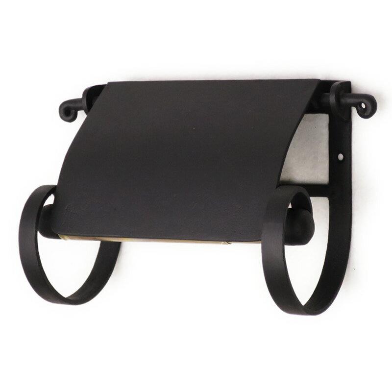 トイレットペーパーホルダー 真鍮 黒 アイアン トイレ 紙巻器 プレーンペーパーホルダー
