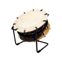 締太鼓35cm(ボルト締め・くりぬき胴) 鉄製座り台座セット