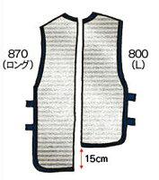 脇のマジックテープでサイズ調節可能
