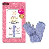 農業女子グローブ 手袋 997 ブルー UVカット率96% スマホ操作OK [M便 1/3]