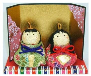 ちりめんおひなさま 縮緬お手玉おぼこ雛 ケース入り 〈縮緬置物 ちりめん人形 雛人形 お雛様 ひな祭り 雛祭り 和のインテリア 通販〉