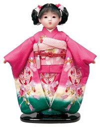 送料無料 平安豊久作 市松人形 13号 正絹刺繍ピンク 〈平安豊久 いちまつにんぎょう いちまさん 日本人形 和人形 和服衣装着人形 伝統人形 衣裳着人形 衣装着人形 着物人形 女の子のお人形 おにんぎょう 伝統工芸品 通販〉