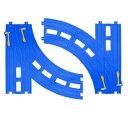 鉄道コレクション ミニチュアトレイン 趣味の玩具・模型 プラレール レール部品 R-28 複線ターンアウトレール 〈趣味・コレクション玩具 こどものおもちゃ 男児向け 鉄道玩具 ミニカー 電車 線路 線路部品 通販〉