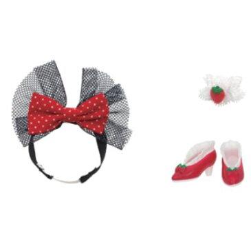 楽しく遊べる玩具・着せ替え人形 リカちゃん人形 原宿ガールズスクールコーデグッズセット CHERRY BERRY ※人形・ドレスは別売です 〈大人・子供向けおもちゃ 女の子向け ごっこ遊び コレクション きせかえ ファッションドール 洋服 衣装 着替え〉