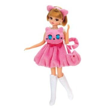 玩具 楽しく遊べるおもちゃ・着せ替え人形 リカちゃん人形 きせかえドレス おめめがキラキラ☆ピンクネコドレス ※人形は別売です 〈大人・子供向けおもちゃ 女の子向け コレクション ファッションドール 香山リカ Licca-chan 洋服 衣装 着替え 通販〉