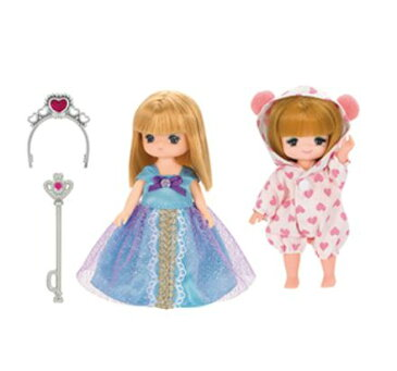 玩具 楽しく遊べるおもちゃ・着せ替え人形 リカちゃん人形 きせかえドレス LW-22 ミキちゃんマキちゃんドレスセット(プリンセス&パジャマ) ※人形は別売です 〈大人・子供向けおもちゃ 女の子向け コレクション ファッションドール 洋服 衣装 着替〉
