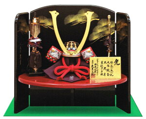 送料無料 久月監製 加藤峻厳作 五月人形 鎌倉時代後期 貼り合わせ小札 1/4縹肩白縅兜 木製…
