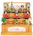 送料無料 久月作 雛人形 衣装着五人揃い 桐製収納三段飾り ...