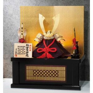 Livraison gratuite poupées Toyohisa Heian May feuille Kanazawa, estampage à la feuille d'or pur, raccords en métal plaqué or pur, couture en cuir véritable, laque de soie véritable, planche de cuve, décoration de support de rangement en bois pour casque n ° 10 [Cloisonne]