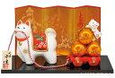 陶器製 干支の置物 戌年/犬年 お正月飾り 寿 新春、開運招福の縁起物...