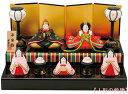 昭峰作 陶器製 雛人形五人揃い 平安雛二段飾り 〈ひな人形 ...