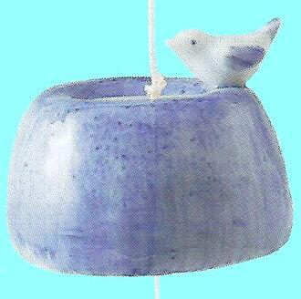 送涼! 夏季商品足夠風鈴印刷洗手盆和小鳥Wind-chime Wind-bell〈夏季商品語言涼風fuurin和睦的室內裝飾郵購〉