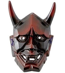 《新作》 陶器製 能面 吉祥面 【般若・はんにゃ】(大) Noh mask 〈海外・外国へのお土...