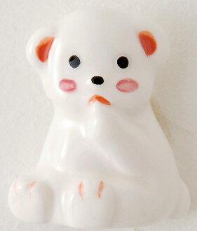 《新作品》 陶器製造坐下北極熊磁鐵〈shirokuma白熊子熊小熊磁石磁鐵動物的磁鐵〉